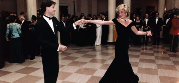 John Travolta and Princess Diana by United States Federal Government - from the Ronald Reagan Library