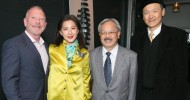 Rick Turley with Gorretti Lo Lui, San Francisco Symphony 2013 Opening Night Gala Chair, Mayor Ed Lee and Lawrence Lui at America's Cup Park for the Symphonix gala pre-party