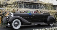 Margie and Joseph Cassini III won Best in Show for their 1934 Packard 1108 Twelve Dietrich Convertible Victoria at the 63rd Concours d'Elegance; the Cassinis also won Best in Show in 2004, for their 1938 Horch 853A Erdman & Rossi Sport Cabriolet