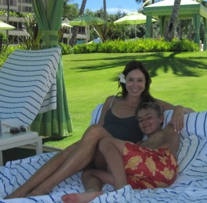 Perfectly situated in a cabana at the St. Regis, Princeville