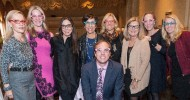 Billy Harris and the Pink Ladies: Barbara Brown, Debbie Bocci, Marybeth La Motte, Patti Rueff, Christin Mendell, Vicky Jones, Marci Palatella and Michelle Ebersman at the premiere BayKids Women in Motion Luncheon