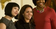 Melissa Hung, Nicole Zatarain Rivera and First Lady Michelle Obama