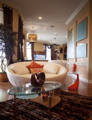 Sitting Room By Modern Class Design. Crystal Chandelier Designed By Vernon  Davis