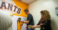 Matt Cain painting a for RTR4C at St. Mary's Medical Center