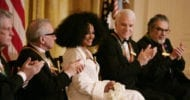 Diana Ross received a Kennedy Center honor from President George W. Bush on Dec. 2, 2007. From left are singer, songwriter Brian Wilson; filmmaker Martin Scorsese; comedian, actor and author Steve Martin and pianist Leon Fleisher.
