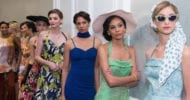 Models wearing Karen Caldwell Designs backstage at Wine, Women & Shoes for Saint Francis Foundation, San Francisco