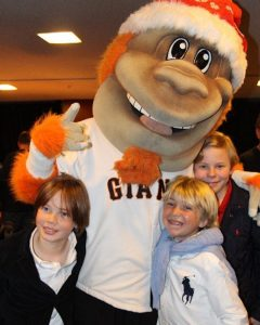 Holiday Heroes Hosts Frankie Solinksy Duryea and Sean Patrick Cronan, with Aidan Skytt (front) and Lou Seal (photo: Christie Hernandez)
