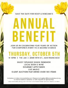 Root and Rebound 2017 Annual Benefit, Red Carpet Bay Area