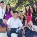 The Sharon and Davide Seto Family: Steve Seto, Melanie Seto, David Seto, Sharon Seto, Samantha Seto and Marissa Seto attend Pour for a Cure: Taste Wine, Fight Lupus on September 9th 2017 at Private Residence in Santa Rosa, CA (Photo - Natalie Schrik for Drew Altizer Photography)