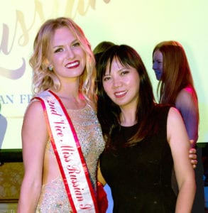 Miss Russian San Francisco 2nd Runner-up with Vivi Andrijani