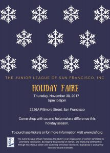 Junior League of San Francisco Holiday Faire @ JLSF HQ | San Francisco | California | United States