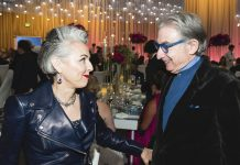 SF Symphony President Sako Fisher Congratulates MTT at his Opening Night Gala